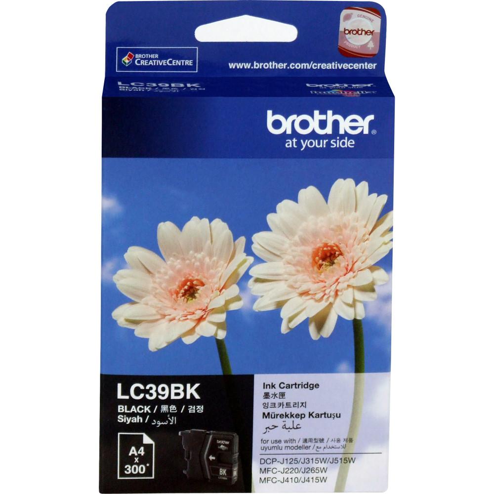 BROTHER LC39BK INK CARTRIDGE Black 300Pg
