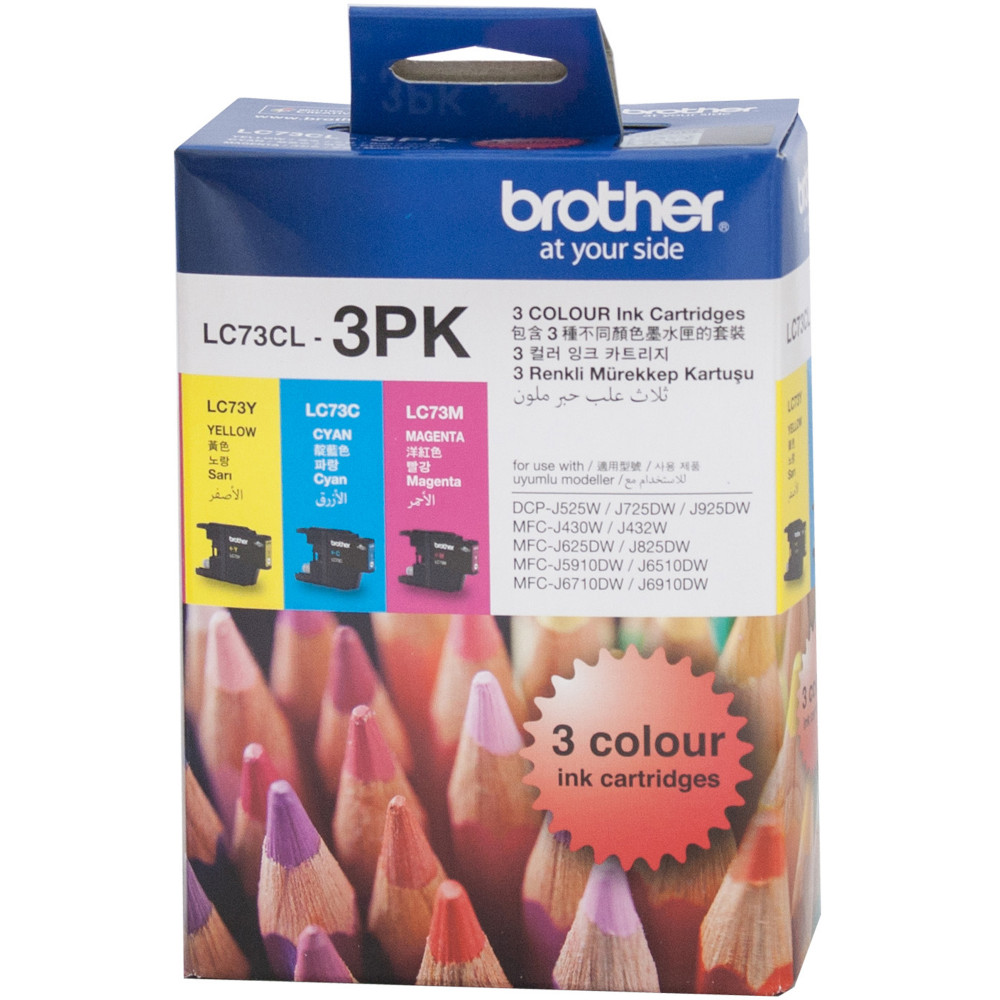 BROTHER LC73CL VALUE INKJET PK Colour Pk Cyan Magenta Yellow
