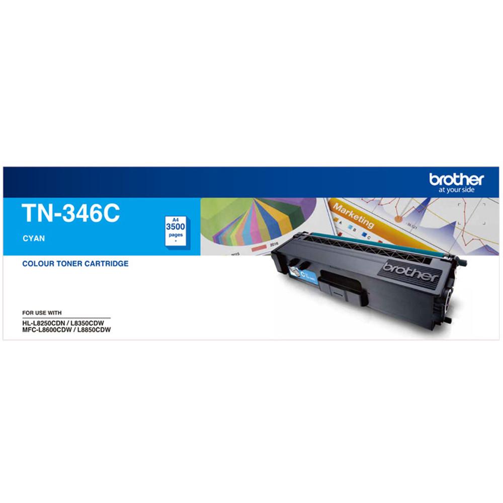 Brother TN-346C High Yield Toner Cartridge Cyan