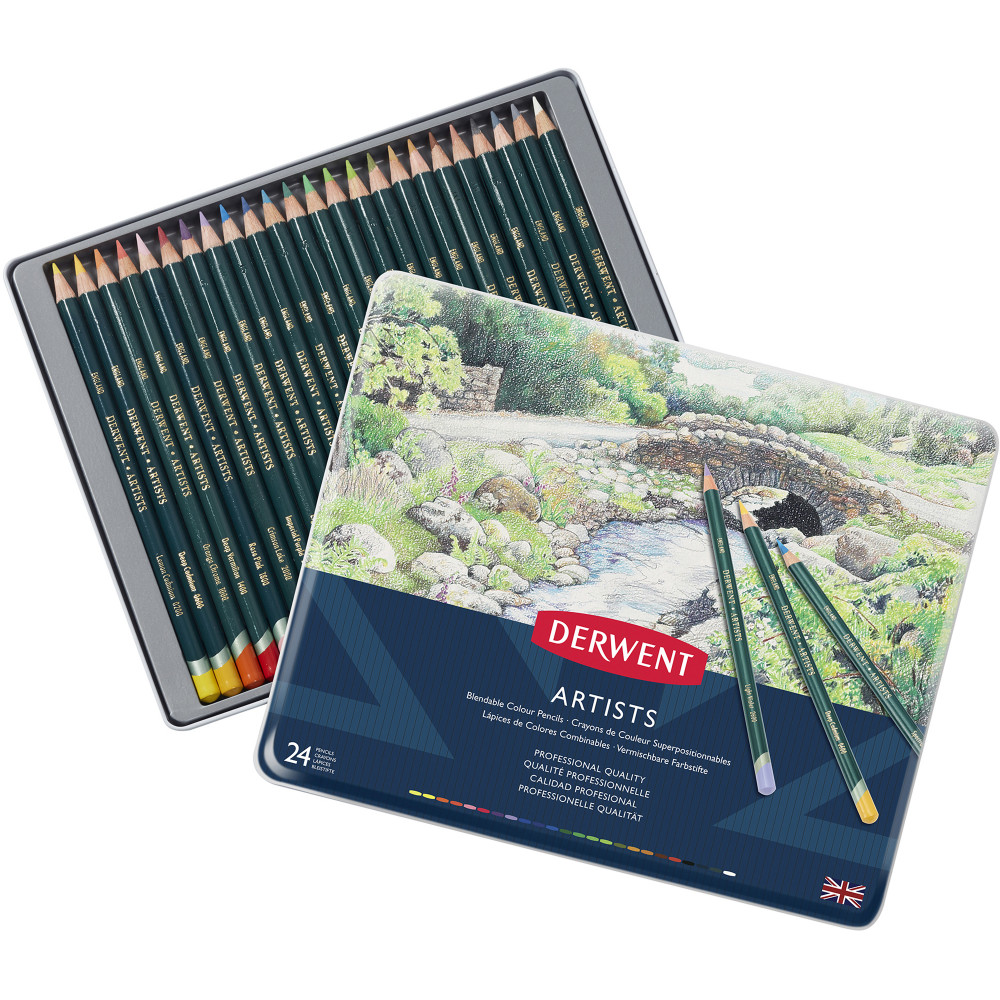 DERWENT ARTIST PENCILS Set 24 Assorted