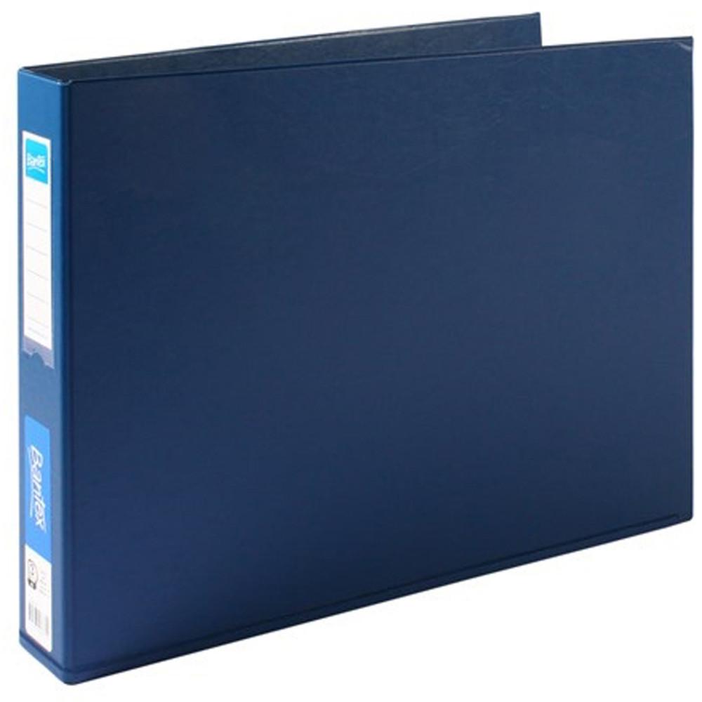 BANTEX PVC BINDERS A3 3D Ring 38mm Landscape Blue