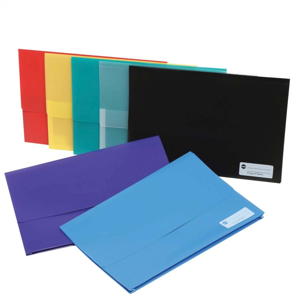 MARBIG POLYPICK WALLETS PP Foolscap Blue