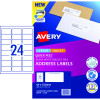 AVERY SURE FEED LABELS Laser 64 x 33.8mm White Pack of 240