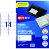 AVERY WEATHER PROOF LABELS Laser 99.1 x 38.1mm White Pack of 140