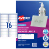 Avery Crystal Clear Laser Address Label 16UP 99.1x34mm Pack of 10
