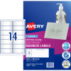 Avery Crystal Clear Laser Address Label 14UP 99.1x38.1mm Pack of 10