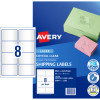Avery Crystal Clear Laser Address Label 8UP 99.1x67.7mm Pack of 10