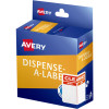 Avery Dispenser Label 60x40mm Clearance Was/Now Red Pack of 300