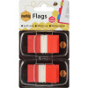 MARBIG FLAGS COLOURED TIP Red