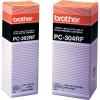 BROTHER PC302RF REFILL ROLLS Fax Refills X2 Black
