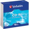 Verbatim Recordable CD-R 80Min 700MB 52X Slim Case Pack of 10