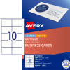 AVERY L7415 PERF BUSINESS CARD Laser/IJet 90x52mm 10/Sht Wht