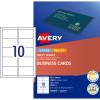 AVERY C32011 BUSINESS CARDS Laser/Injet 200gsm Matt White