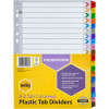 MARBIG COLOURED DIVIDERS A4 A-Z Reinf Tab PP