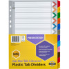 MARBIG COLOURED DIVIDERS A4 Jan-Dec Reinf Tab PP