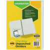 MARBIG UNPUNCHED DIVIDERS A4 5 Tab White