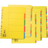 MARBIG BRIGHT MANILLA DIVIDERS A4 5 Tab Xtra Wide MultiColour