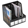 MARBIG MAGAZINE RACKS 4 Section Black