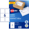 AVERY L7166 MAILING LABELS Laser 6/Sht 99.1x93.1mm