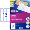 AVERY L7164 MAILING LABELS Laser 12/Sht 63.5x72mm