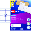 AVERY L7162 MAILING LABELS Laser 16/Sht 99.1x34.2mm