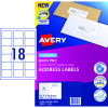 AVERY L7161 MAILING LABELS Laser 18/Sht 63.5x46.6mm