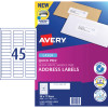 AVERY L7156 MAILING LABELS Laser 45/Sht 58x17.8mm Address
