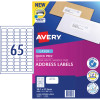 AVERY L7158 MAILING LABELS Laser 65/Sht 38.1x21.2mm