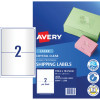 AVERY MAILING LASER LABELS L7168 2 L/P Sht 199.1x143.5mm Shipping - Crystal Clear  Bx50