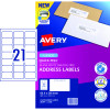 Avery Quick Peel Address Laser Labels L7160 63.5x38.1mm White 420 Labels, 20 Sheets