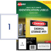 Avery Heavy Duty Laser Labels L7067 99.6x289.1mm White 25 Labels, 25 Sheets