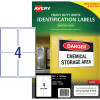 AVERY L7069 DURABLE H/D LABEL Laser 4/Sht 99.1x139mm Wht