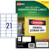 AVERY L7060 DURABLE H/D LABEL Laser 21/Sht 63.5x38.1mm Wht