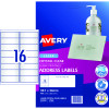 AVERY L7562 CLEAR LASER LABELS Quick Peel 16/Sht 99.1x33.9mm
