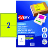 AVERY L7168FY LASER LABELS 2/Sht 199.6x43.5mm Fluoro Yellow Pack of 10
