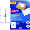 Avery Internet Shipping Laser & Inkjet Labels L7169 99.1x 139 White 40 Labels, 10 Sheets