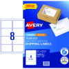 AVERY INTERNET SHIPPING LABELS L7165 8L/P/Sht 99.1x67.7mm Pack of 80 Laser Labels