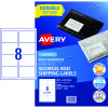 AVERY A6 SHIPPING LABELS L7175 1L/P/Sht 105x148mm Kraft Pack of 20