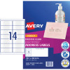 AVERY J8563 QUICK PEEL LABEL I/Jet 14/Sht 99.1x38.1 Add Clr