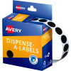AVERY DMC14BL DISPENSER LABEL Circle 14mm Black