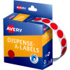Avery Removable Dispenser Labels 14mm Round Red Pack of 1050