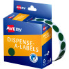 Avery Removable Dispenser Labels 14mm Round Green Pack of 1050
