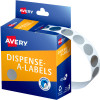 Avery Removable Dispenser Labels 14mm Round Silver Pack of 500