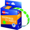 Avery Removable Dispenser Labels 14mm Round Fluoro Green Pack of 700