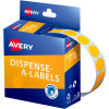 Avery Removable Dispenser Labels 14mm Round Fluoro Orange Pack of 700