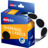 Avery Removable Dispenser Labels 24mm Round Black Pack of 500