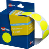 Avery Removable Dispenser Labels 24mm Round Fluoro Yellow Pack of 350