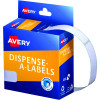 Avery Removable Dispenser Labels 13x49mm Rectangle White Pack of 550