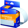 Avery Removable Dispenser Labels 101x24mm Rectangle White Pack of 160