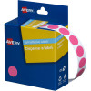 Avery Removable Dispenser Labels 14mm Round Pink Pack of 1050